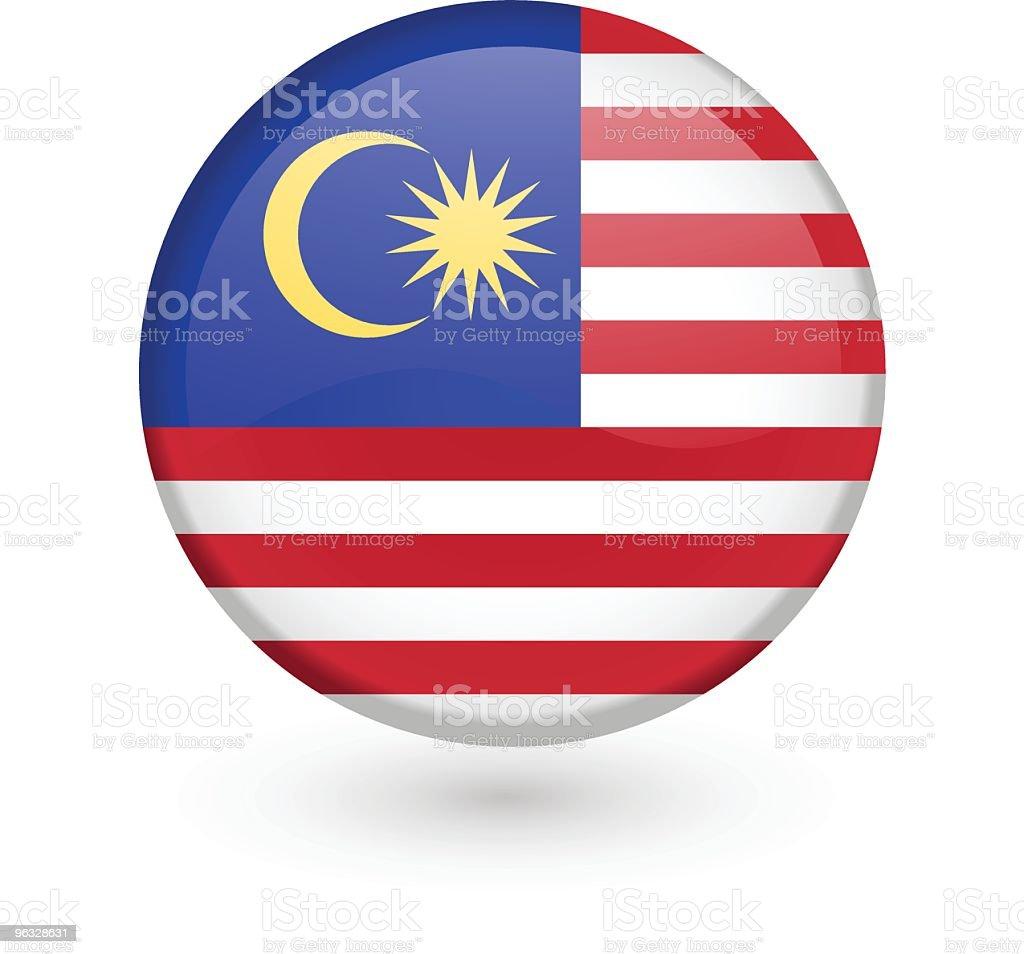 Malaysian flag vector button vector art illustration
