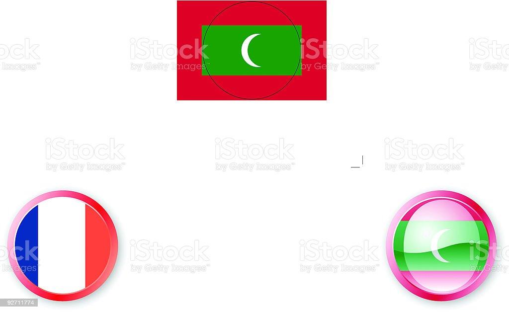 Maldives Flag Icon royalty-free stock vector art