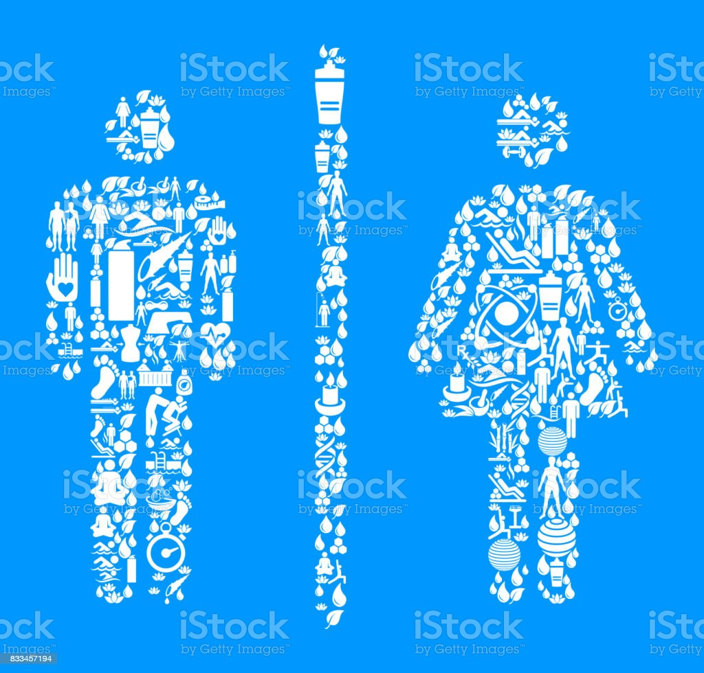 Bathroom Sign Male Vector male and female bathroom sign health and wellness icon set blue