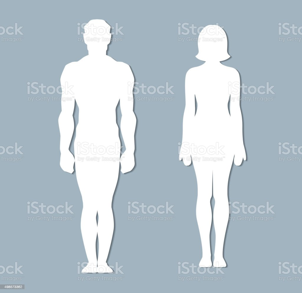 Male and female body vector art illustration