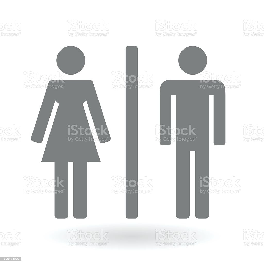Male and Female gender icon symbol vector art illustration