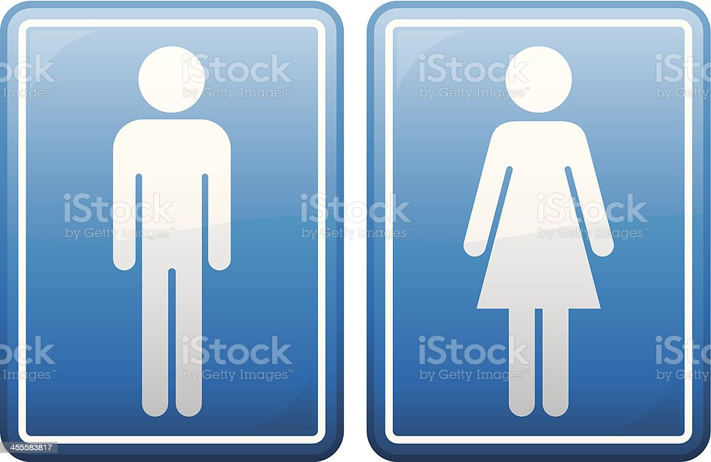 Male and Female Symbols vector art illustration