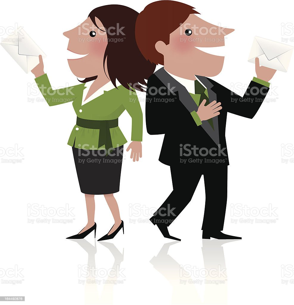 Male and female voting royalty-free stock vector art