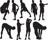 Male athlete exercising