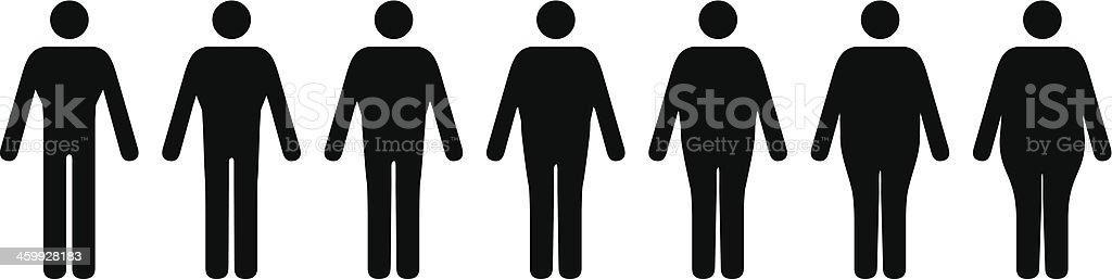 Male Body Shapes vector art illustration