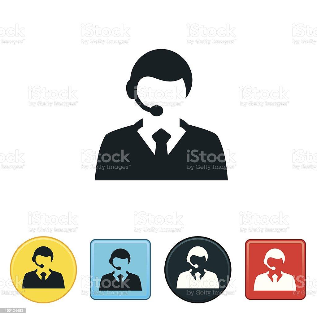 Male CSR vector art illustration