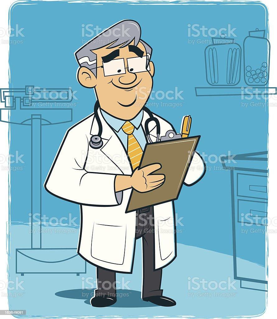 Male Doctor vector art illustration
