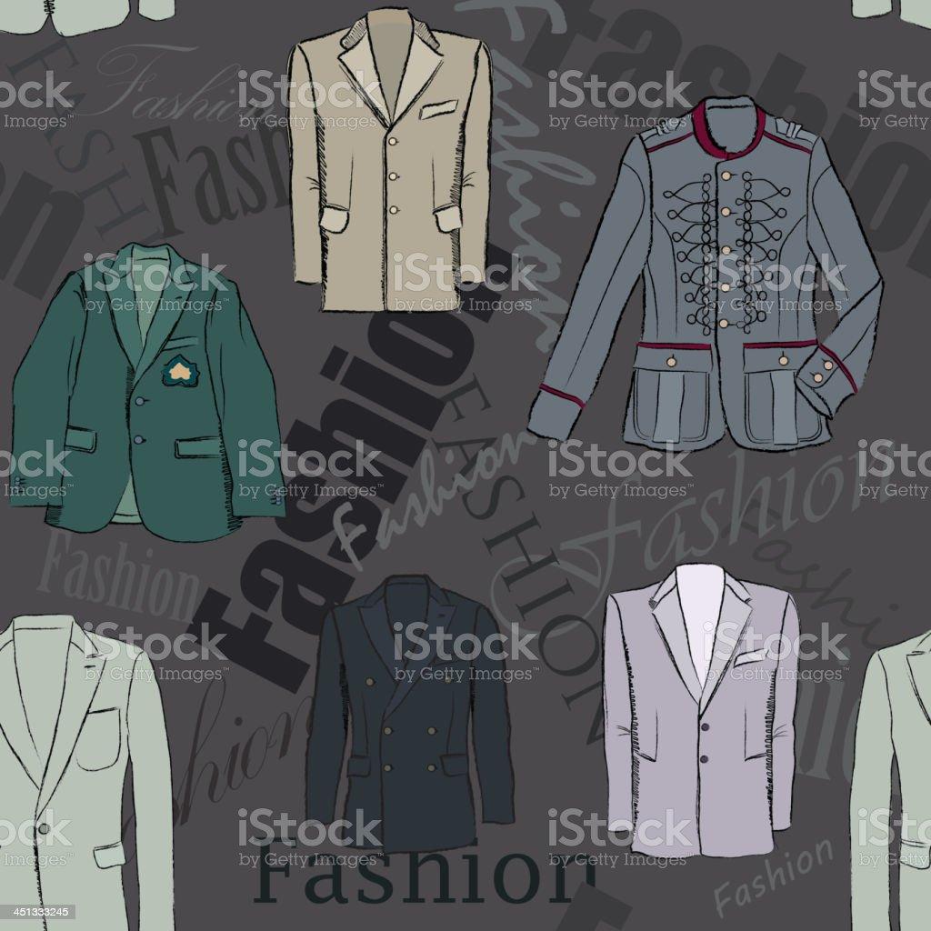 Male dress seamless fashion pattern royalty-free stock vector art
