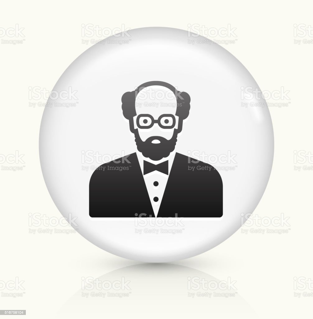 Male Face icon on white round vector button vector art illustration