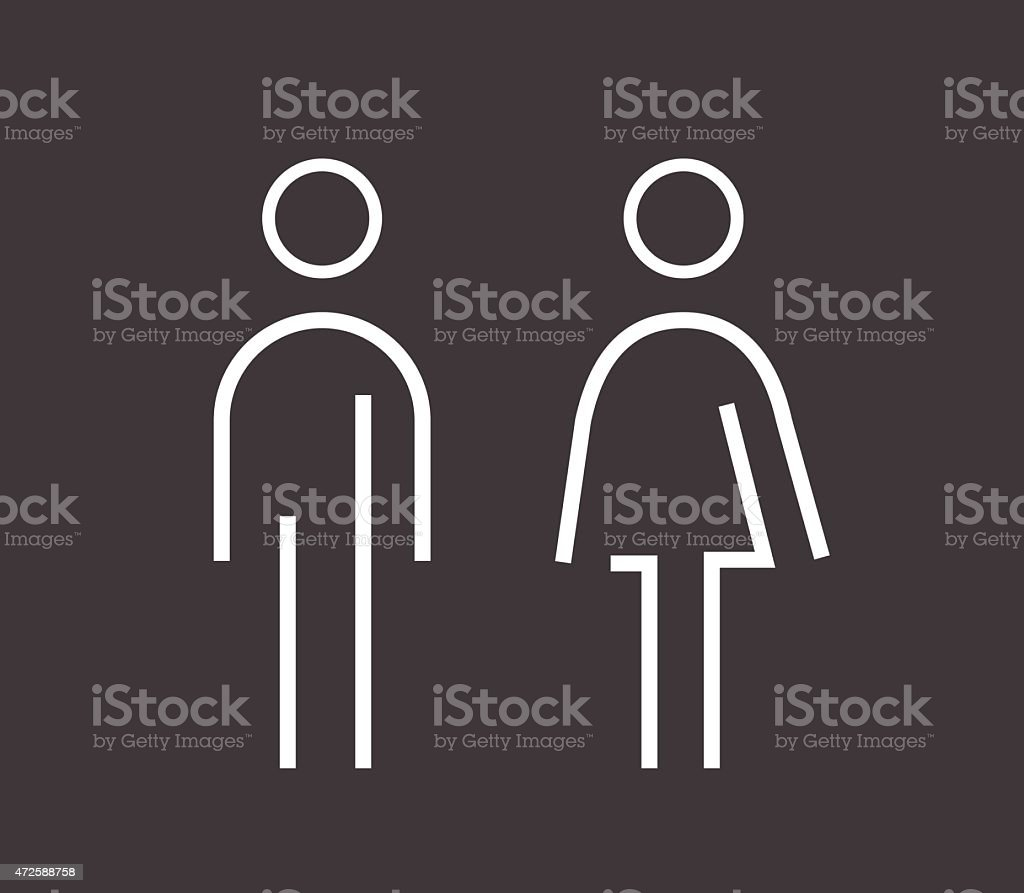 Male female sign vector art illustration