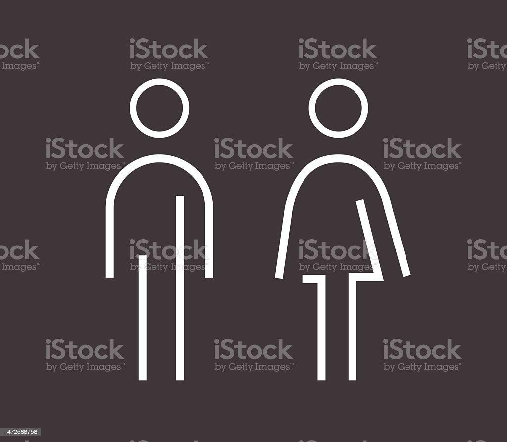Male female sign vector art illustration