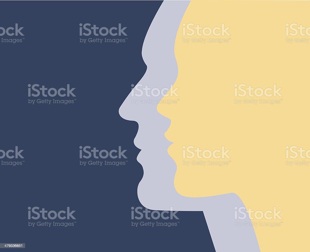 Male & Female vector art illustration