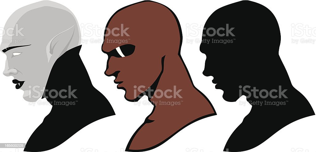 Male heads royalty-free stock vector art