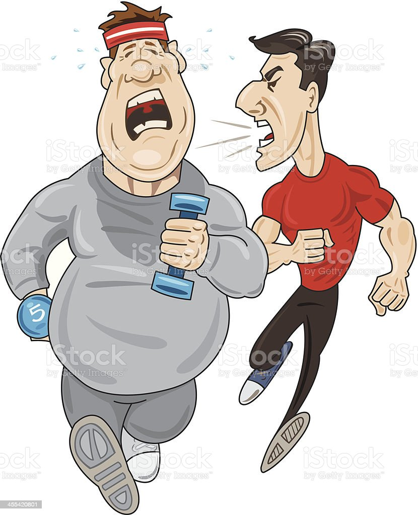 Male Jogger and Trainer royalty-free stock vector art