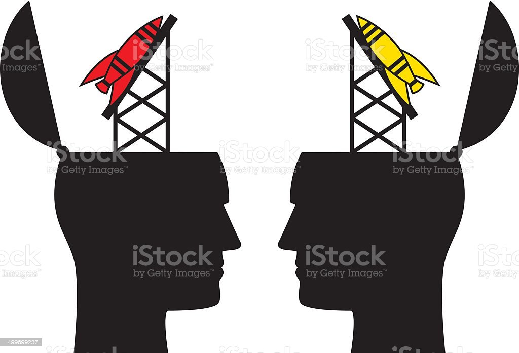 Male Missile Heads royalty-free stock vector art
