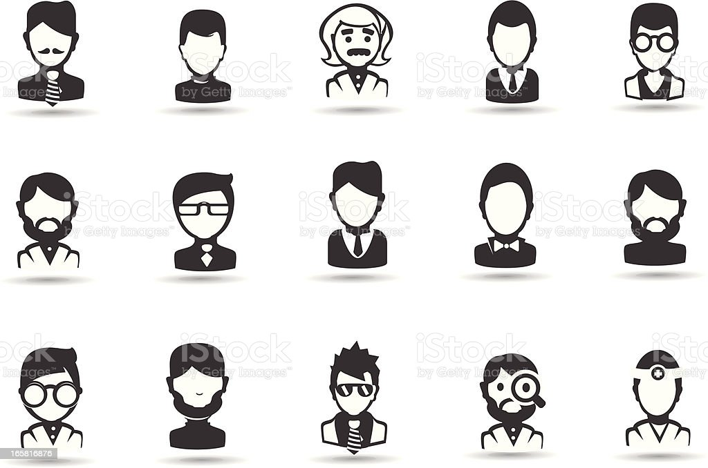Male Occupation people royalty-free stock vector art