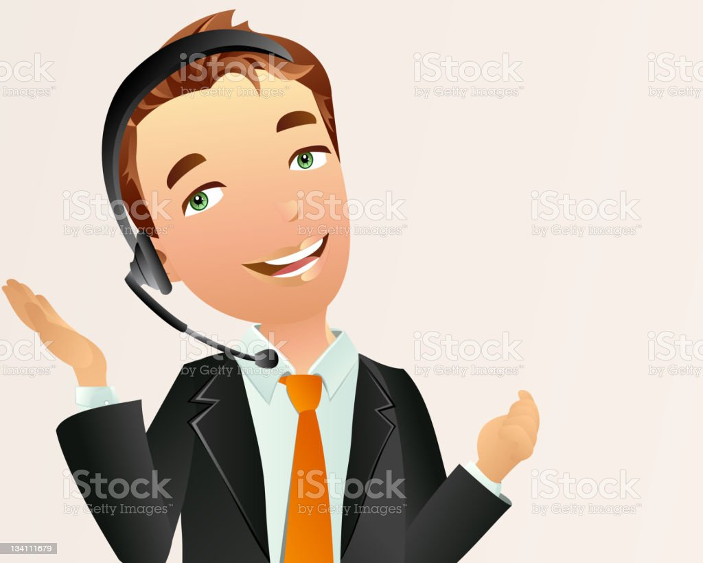 Male Receptionist royalty-free stock vector art