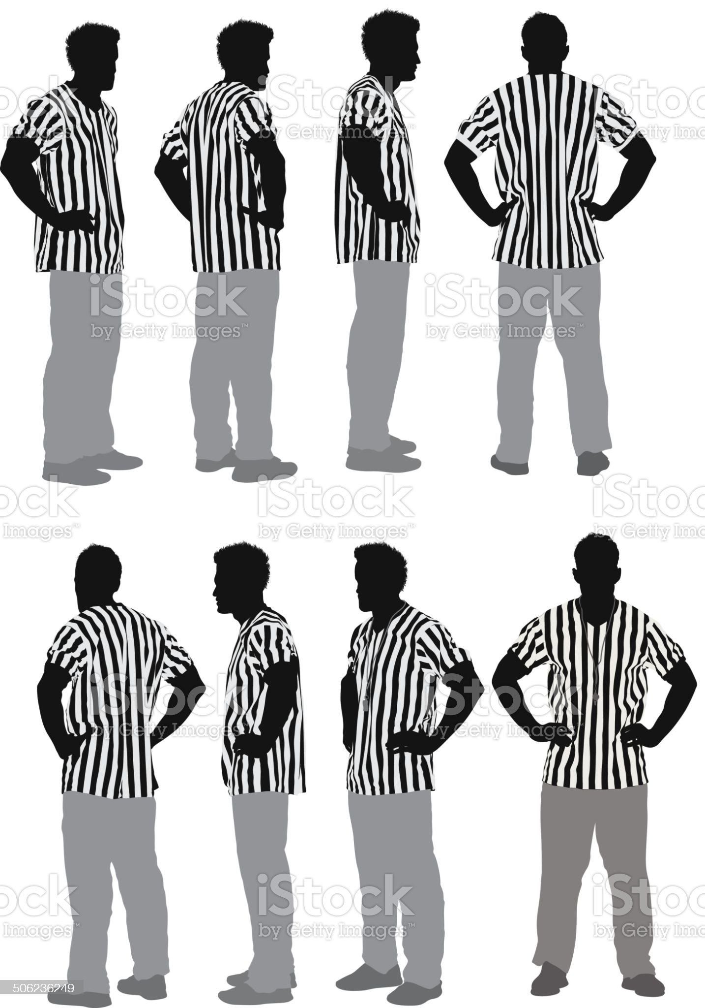 Male referee royalty-free stock vector art