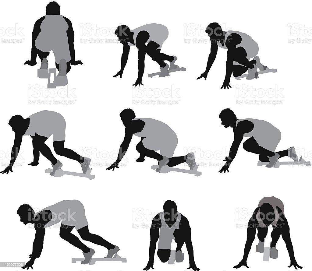 Male runner vector art illustration