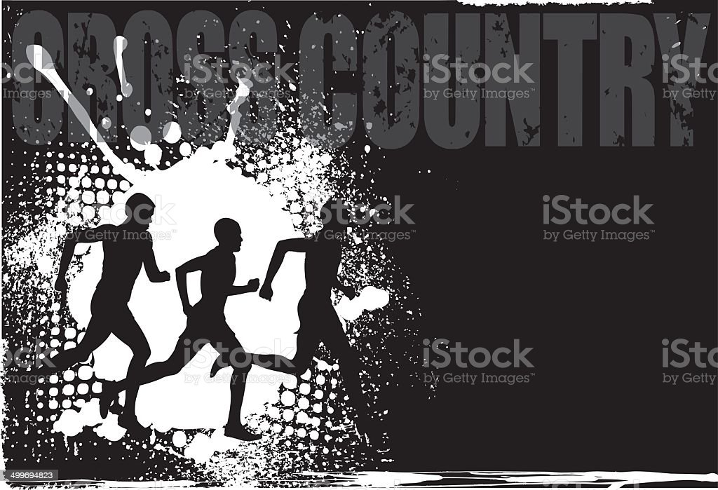 Male Runners Grunge Background royalty-free stock vector art