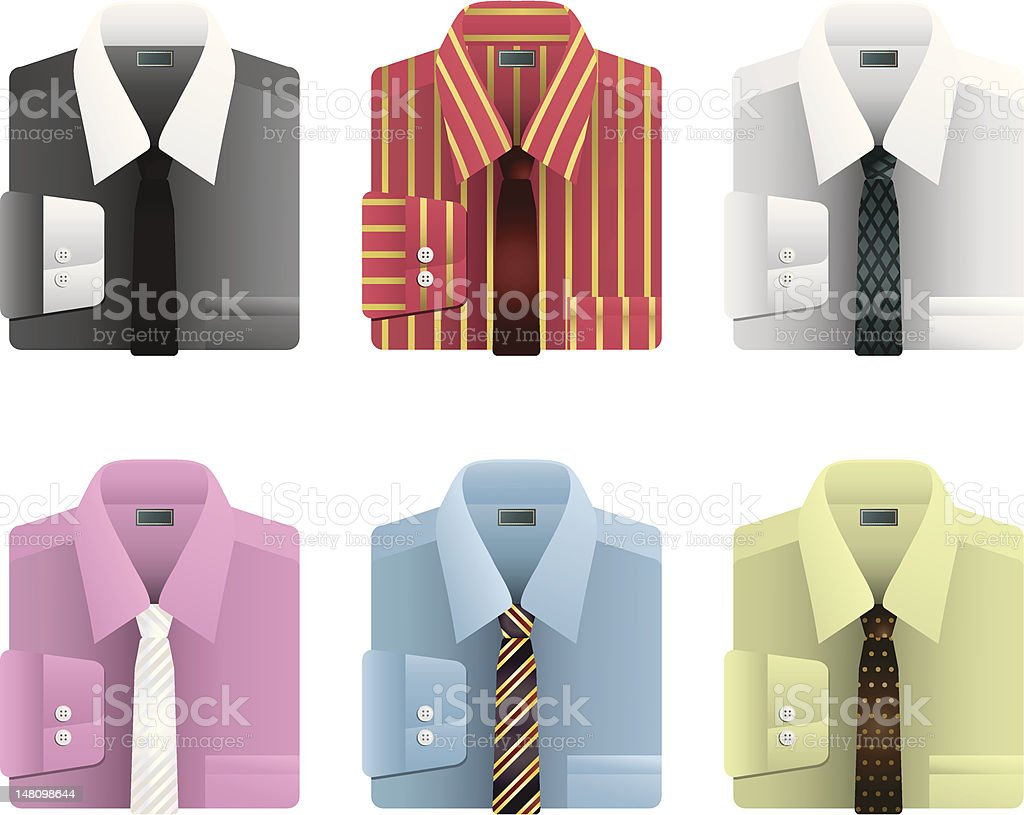 male shirts and ties royalty-free stock vector art