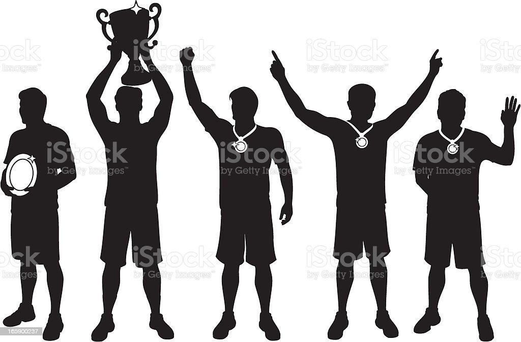 Male Sports Winners royalty-free stock vector art
