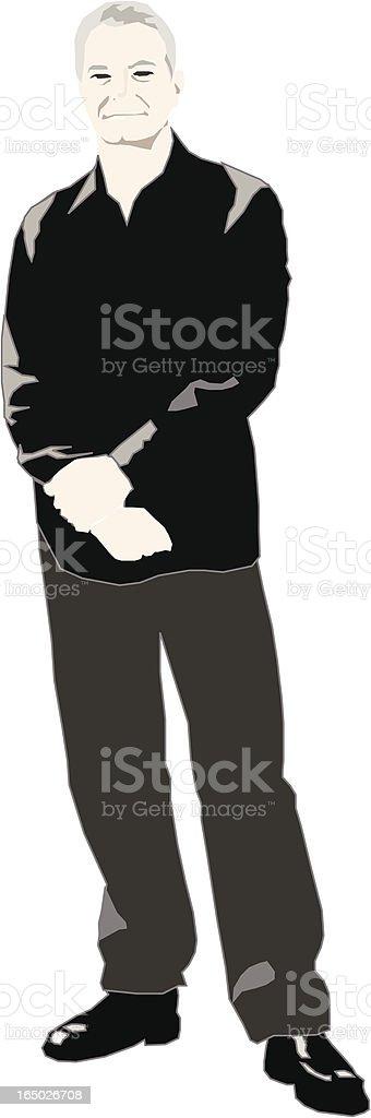 Hombre postura de pie illustracion libre de derechos libre de derechos