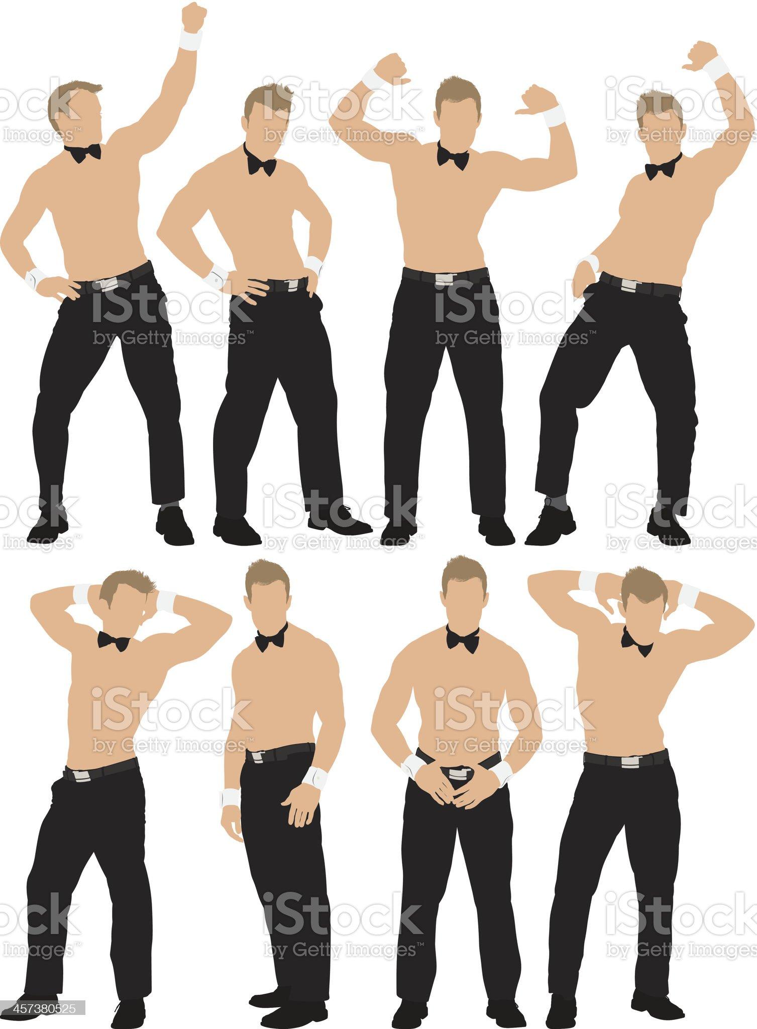 Male stripper dancing royalty-free stock vector art