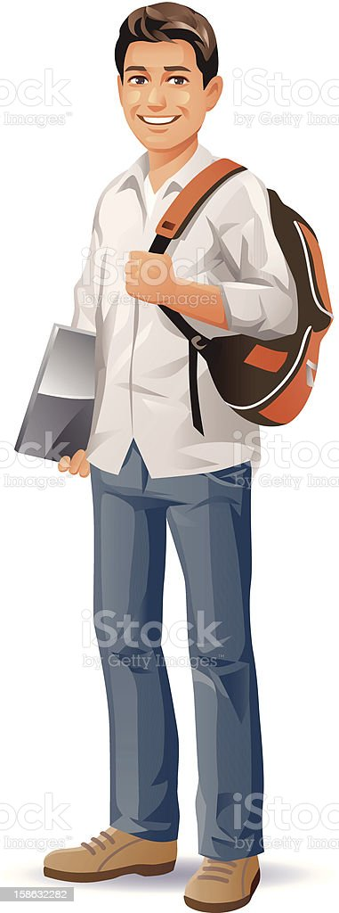 Male Student royalty-free stock vector art