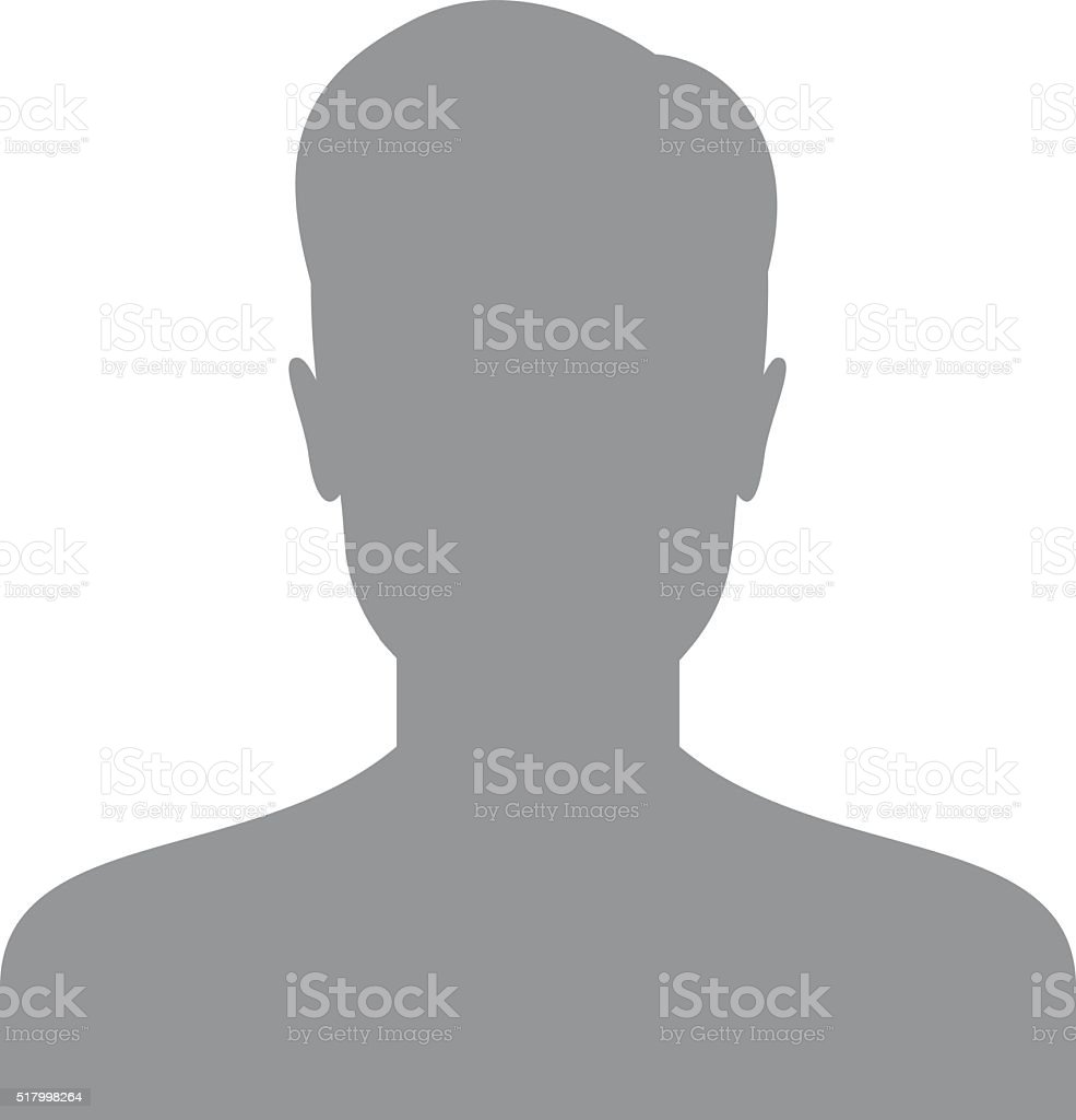 Male user icon vector art illustration