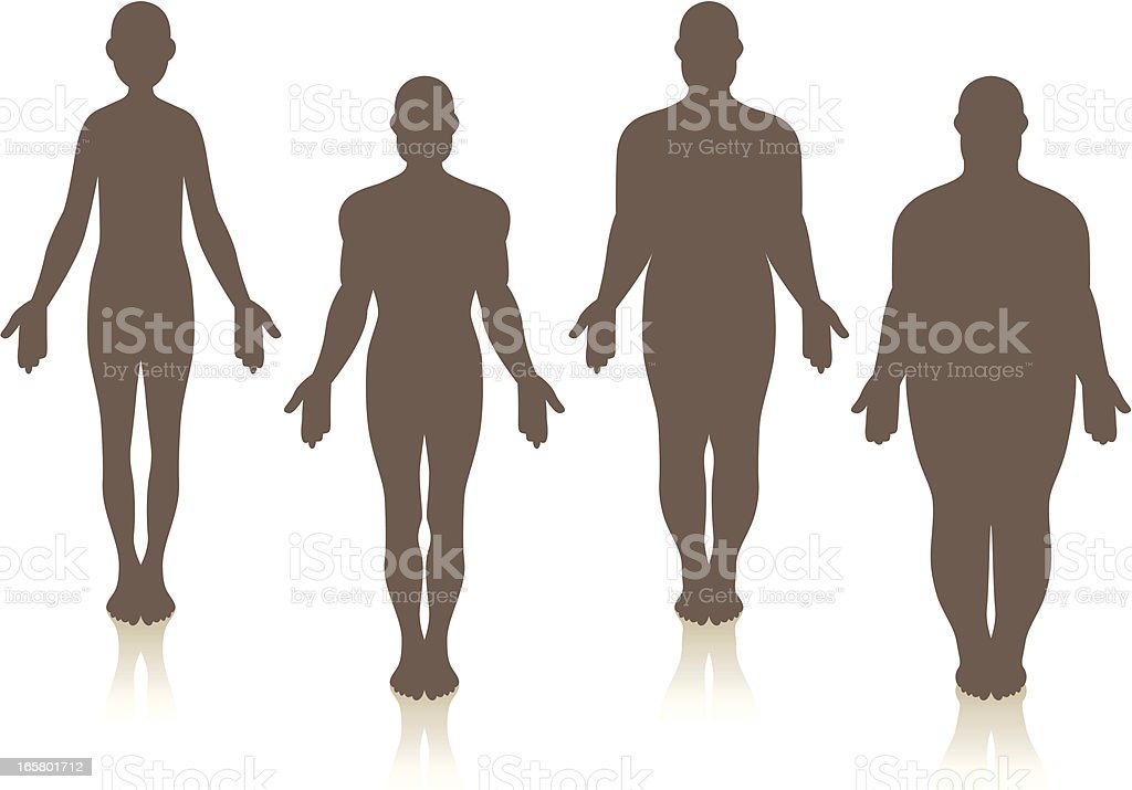 Male Weight vector art illustration