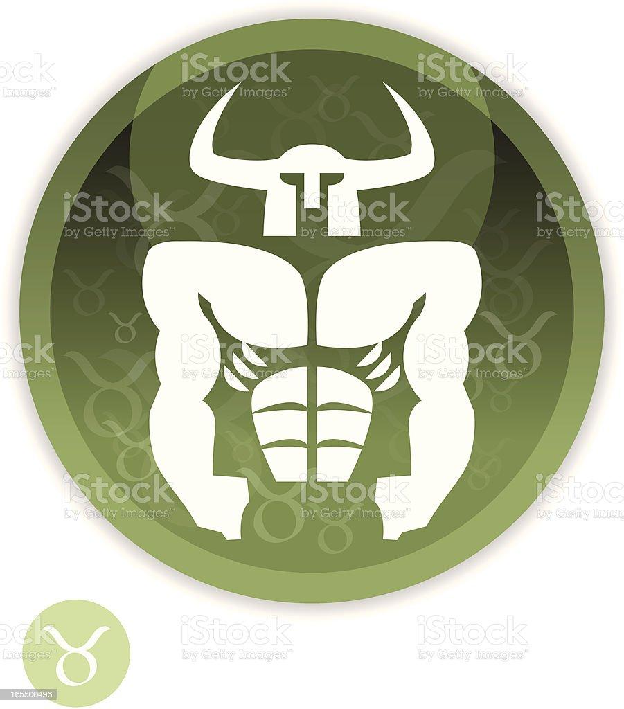 Male Zodiac - Taurus royalty-free stock vector art