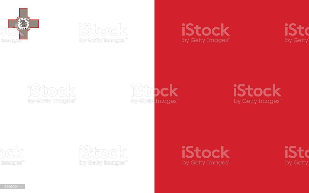 Malta flag vector art illustration