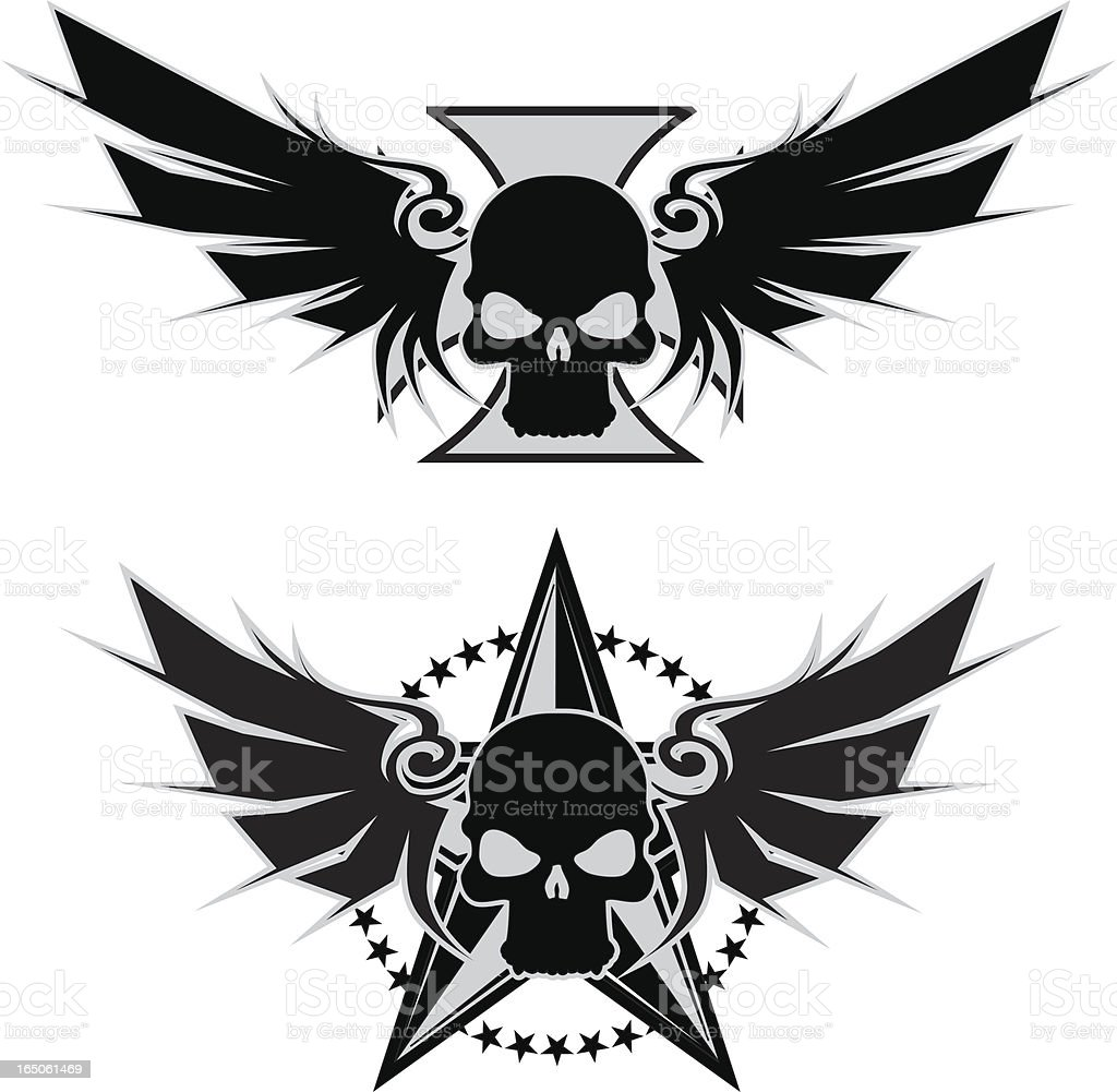 maltese wings and star royalty-free stock vector art