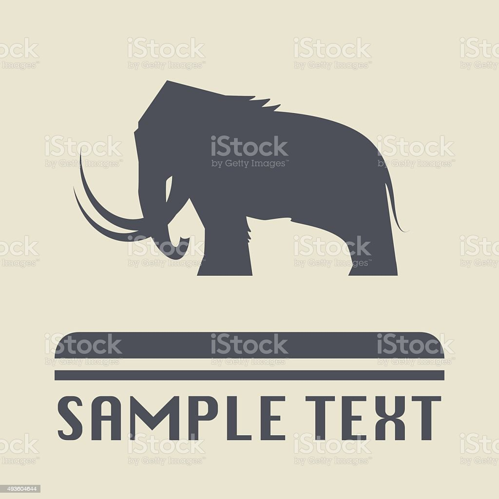 Mammoth icon or sign vector art illustration