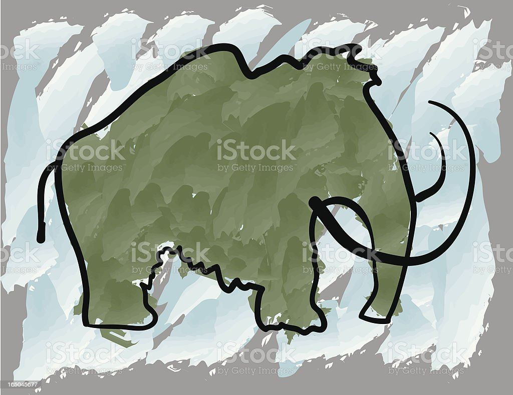 mammoth royalty-free stock vector art