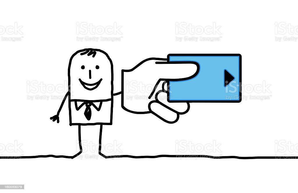 man & credit card royalty-free stock vector art