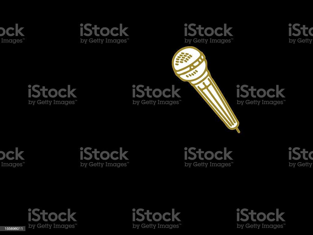 man & karaoke vector art illustration