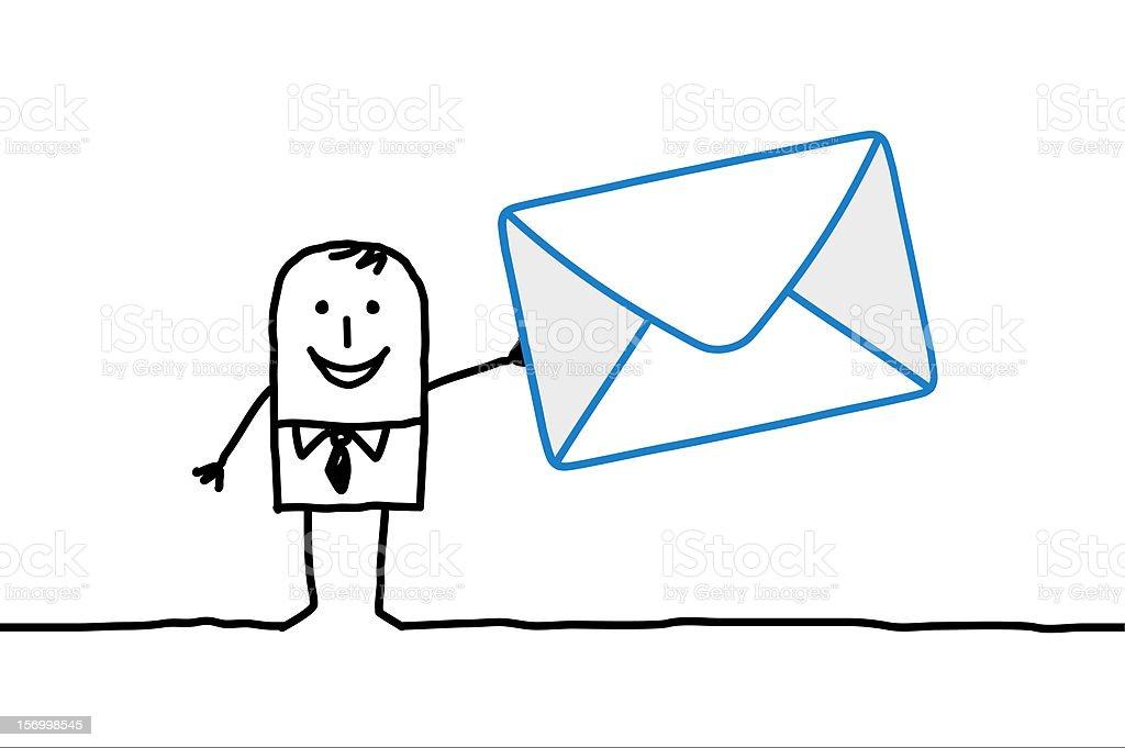 man & mail royalty-free stock vector art