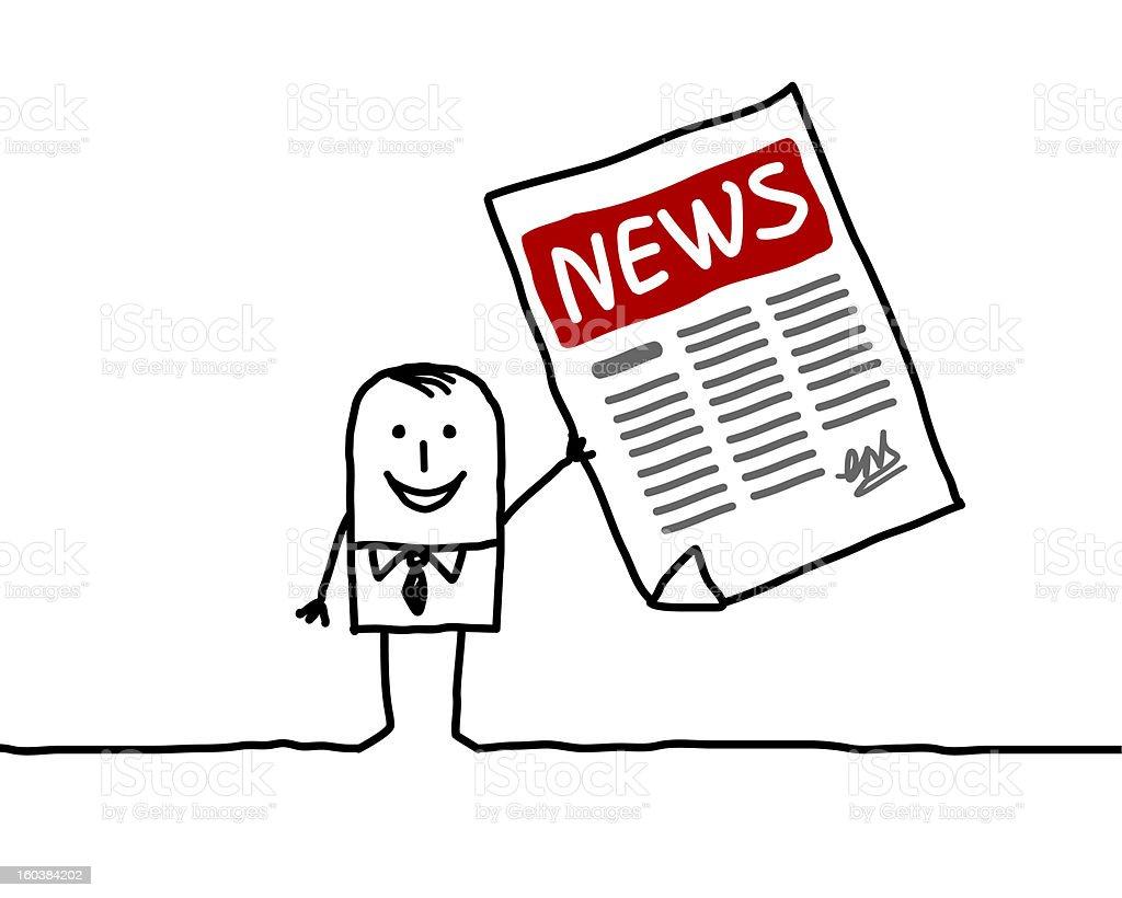 man & news royalty-free stock vector art