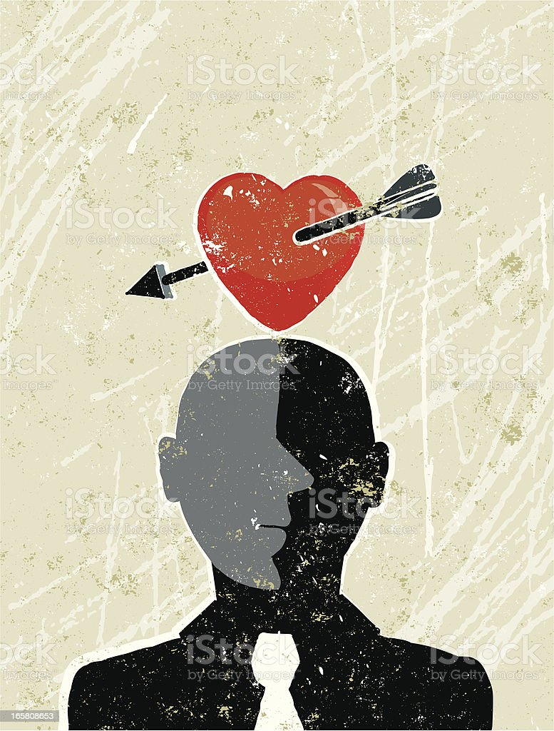 Man and Heart royalty-free stock vector art