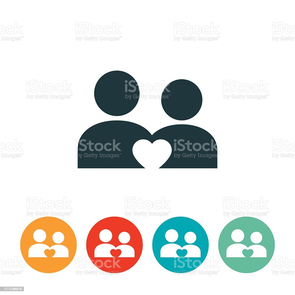 Man and Woman Couple Icon vector art illustration