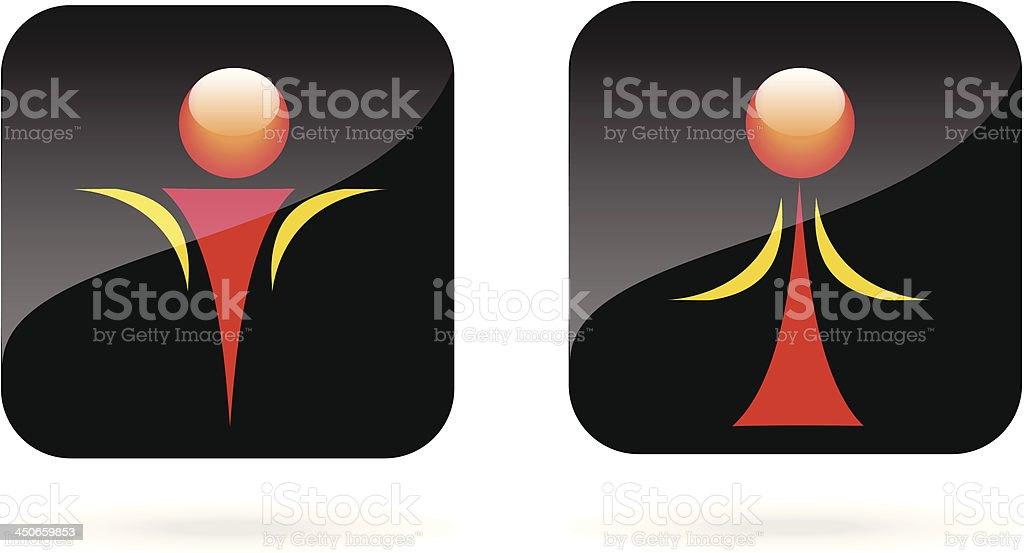 Man and Woman icon. royalty-free stock vector art