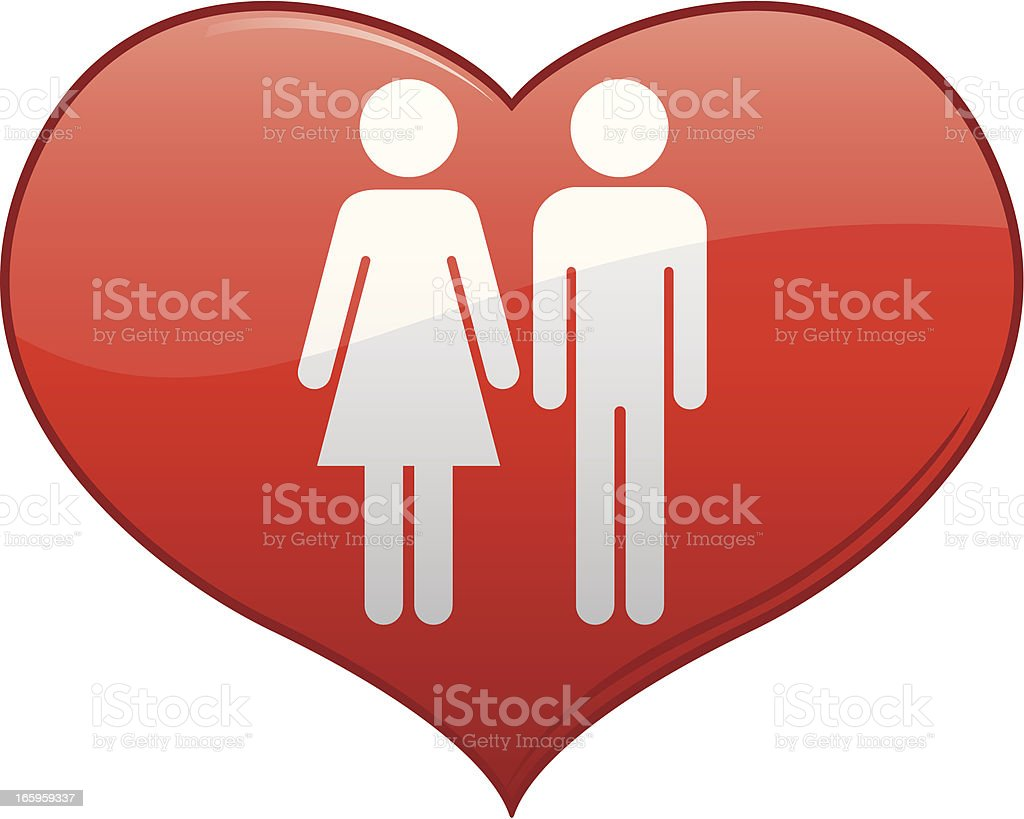 Man and Woman in Love royalty-free stock vector art