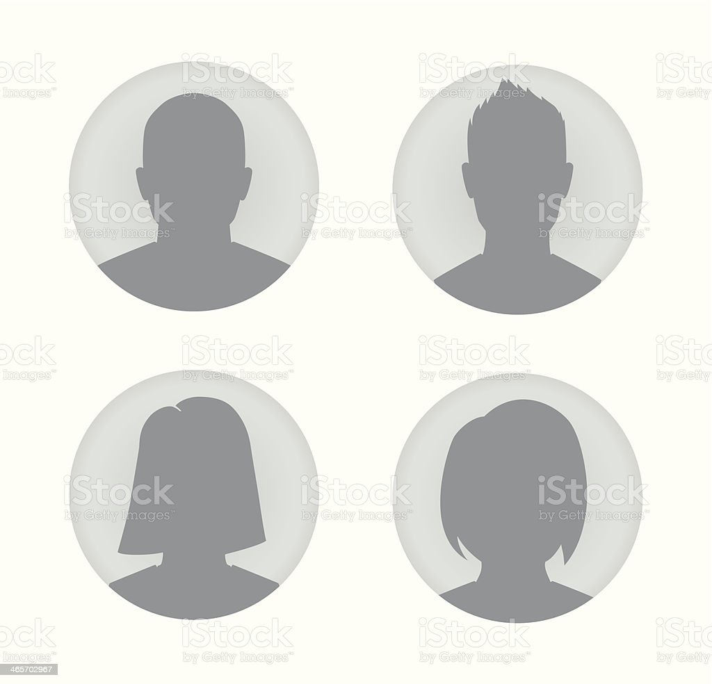 Man and woman user profile illustration vector art illustration