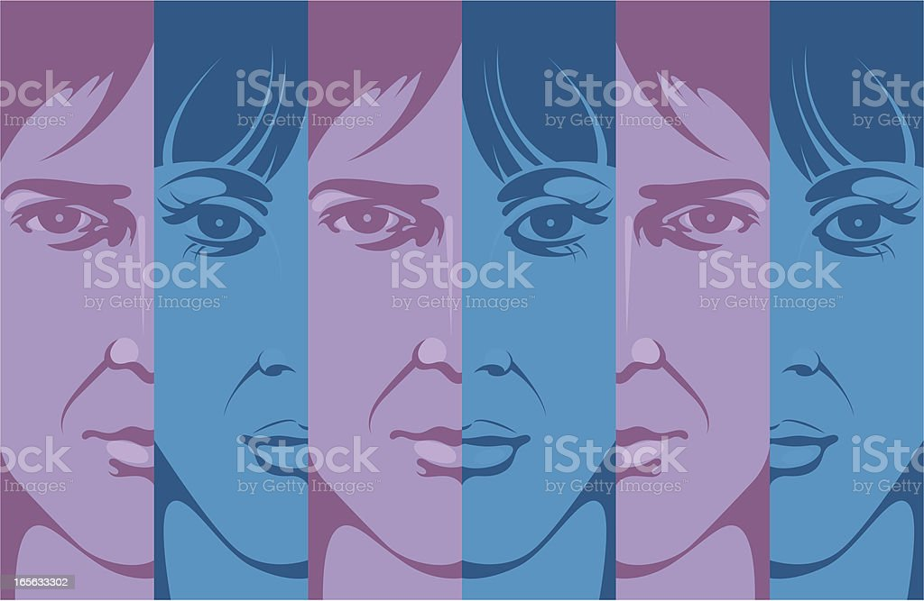 Man and woman. royalty-free stock vector art