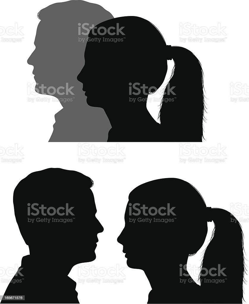 Man and woman vector art illustration