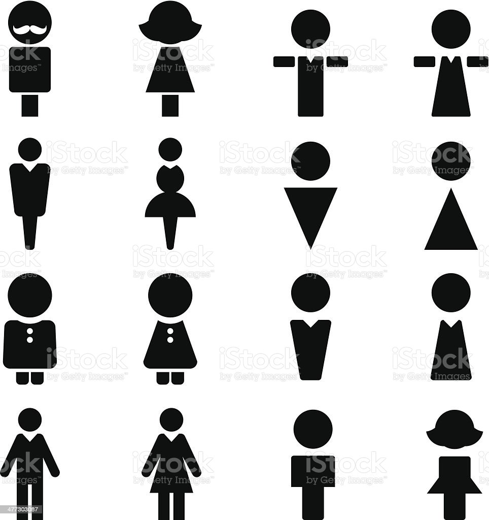 Man and Women Sign vector art illustration