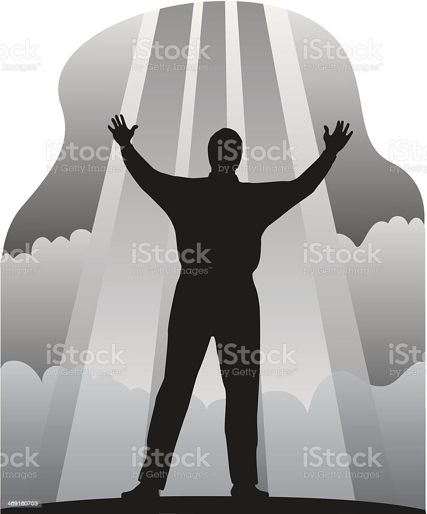 Man Arms Stretched Out royalty-free stock vector art