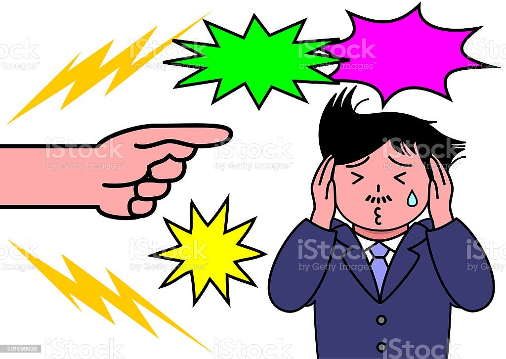 man being scolded royalty-free stock vector art